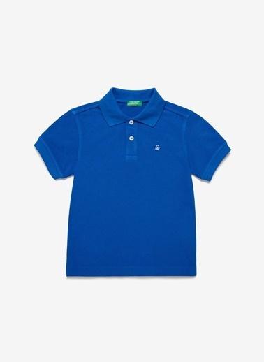 Benetton Benetton Saks Mavi T-Shirt Saks